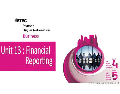 Unit 13 Financial Reporting