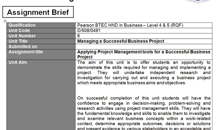 Managing a Successful Business Project Assignment