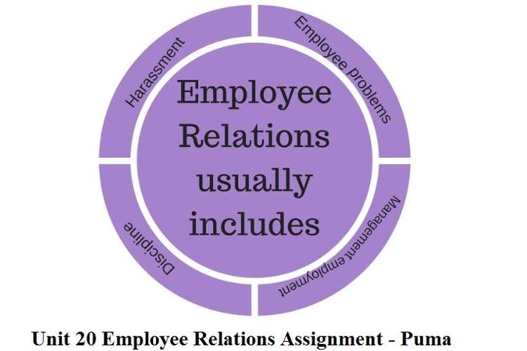 Unit 20 Employee Relations Assignment - Puma