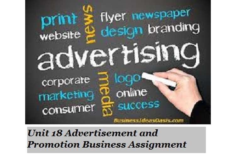 Advertisement and Promotion Business Assignment