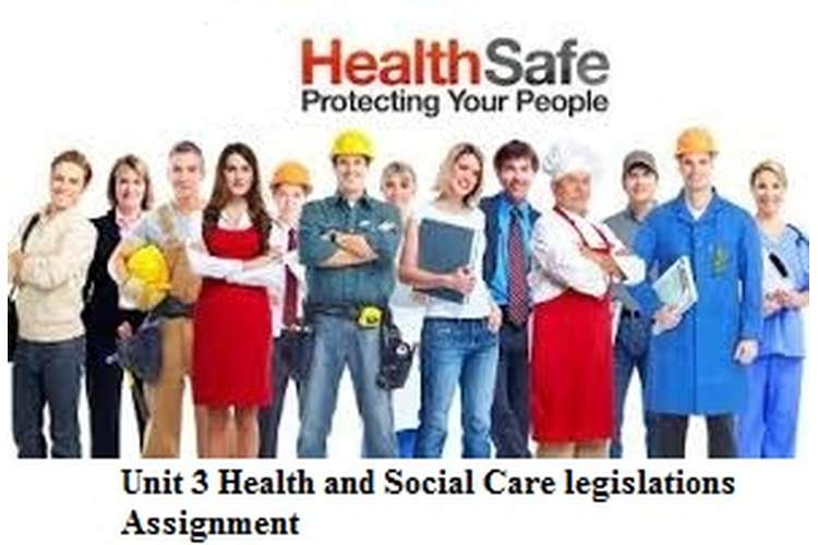 Unit 3 Health and Social Care legislations Assignment