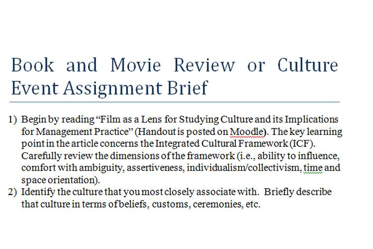 Book and Movie Review Assignment Brief