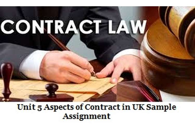 Unit 5 Aspects of Contract in UK Sample Assignment