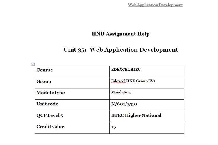 Unit 35 Web Application Development Assignment Solution
