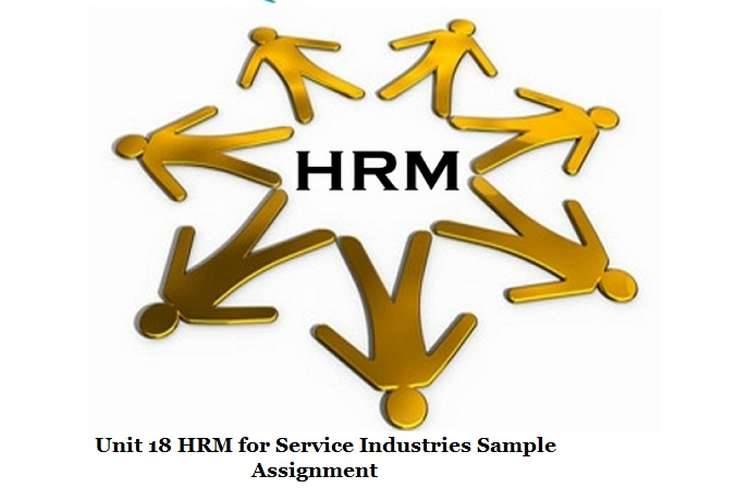 HRM for Service Industries Sample Assignment
