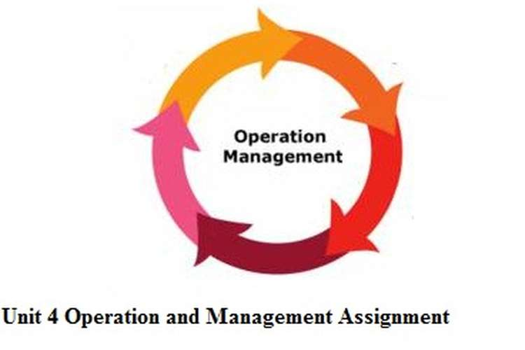 Unit 4 Operation and Management Assignment