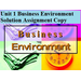 Business Environment Solution Assignment Copy