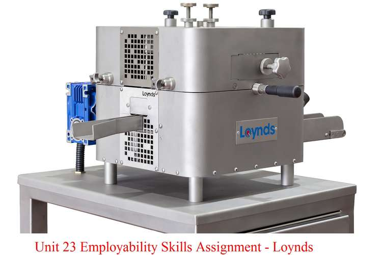 Unit 23 Employability Skills Assignment - Loynds Company