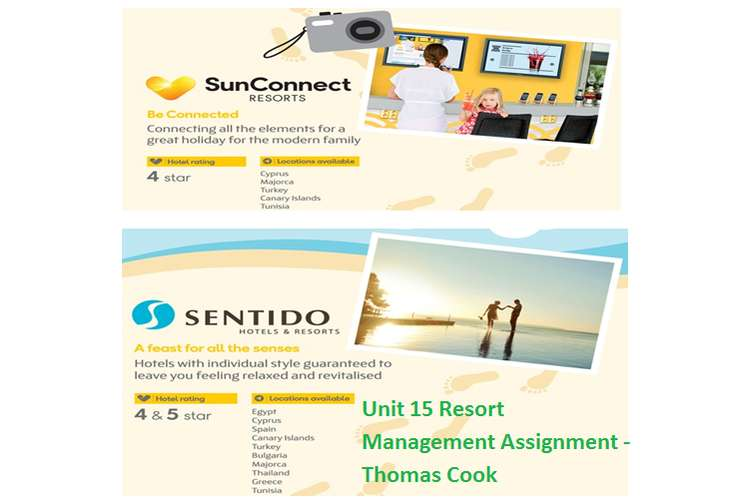 Unit 15 Resort Management Assignment - Thomas Cook
