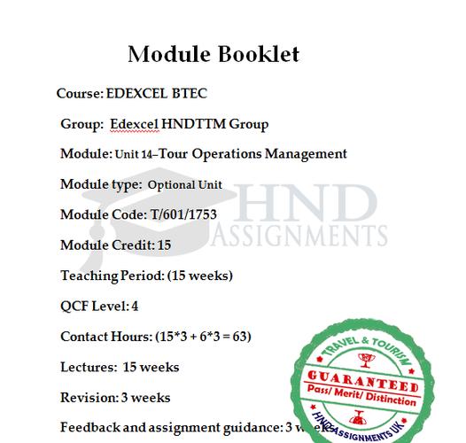 Tour Operations Management
