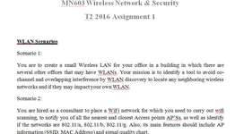 MN603 Wireless Network & Security Assignment Brief