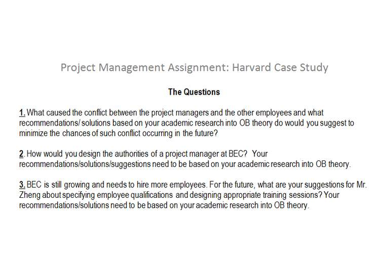 project management assignment harvard case study oz assignment project management assignment harvard case study