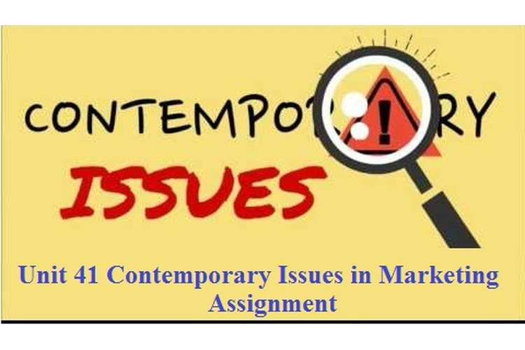 Unit 41 Contemporary Issues in Marketing Assignment