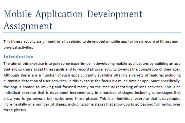 Mobile Application Development Assignment