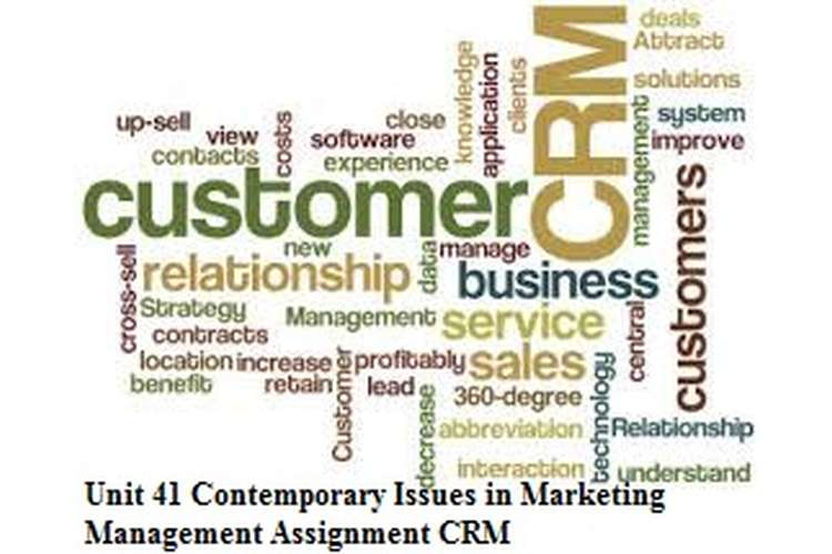 Unit 41 Contemporary Issues in Marketing Management Assignment CRM
