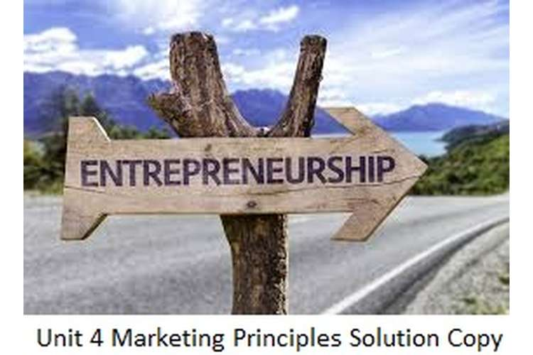 Unit 4 Marketing Principles Solution Copy 1