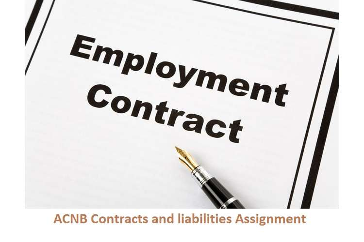 ACNB Contracts and liabilities Assignment