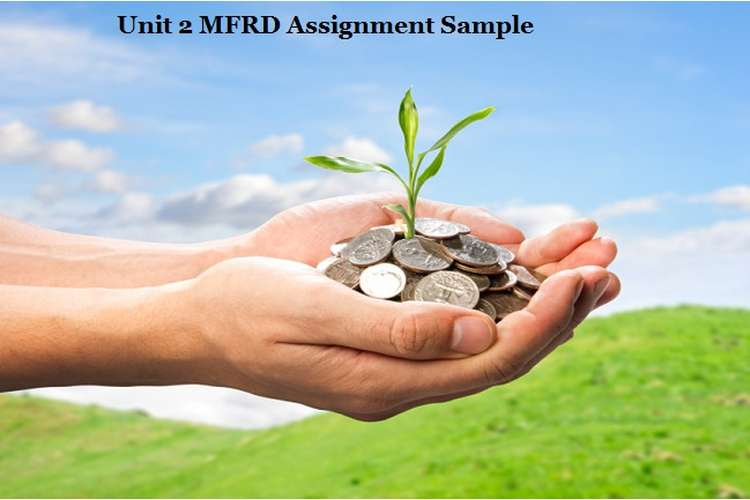 MFRD Assignment Sample