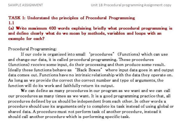 Unit 18 Procedural programming Assignment copy