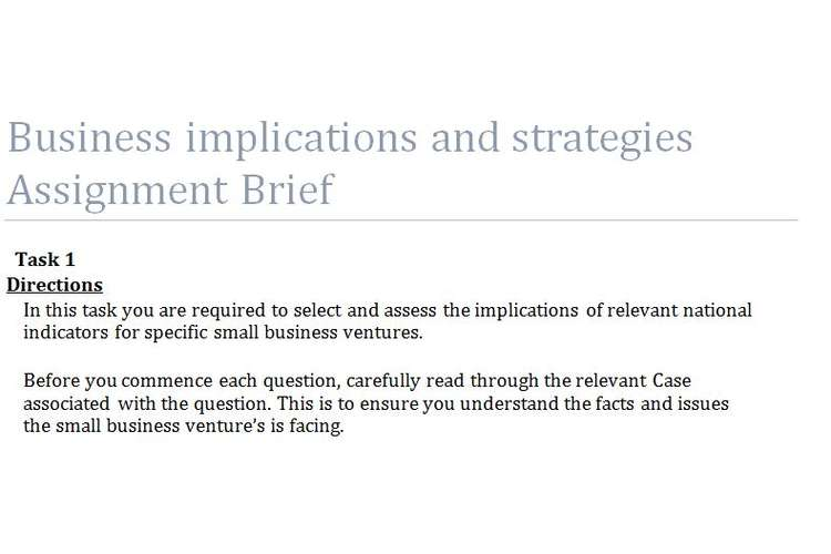 Business implications Strategies Assignment Questions