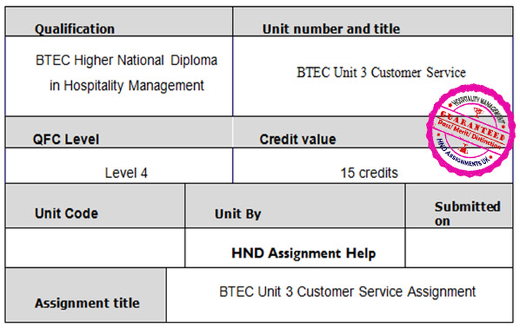 Unit 3 Customer Service Assignment