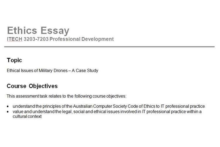 Ethical Issues Military Drones Assignment Questions