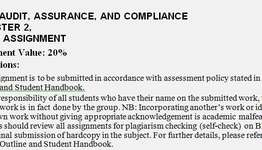 HI6026 Audit Assurance Compliance Assignment
