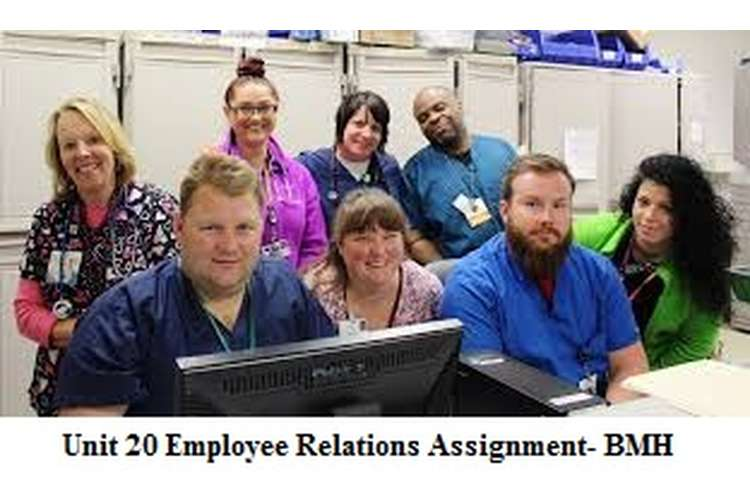 Unit 20 Employee Relations Assignment- BMH