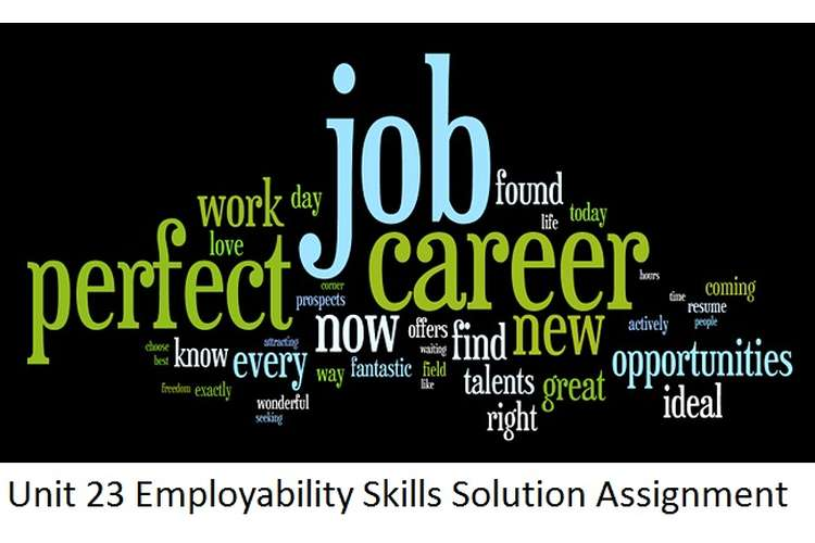 Unit 23 Employability Skills Solution Assignment
