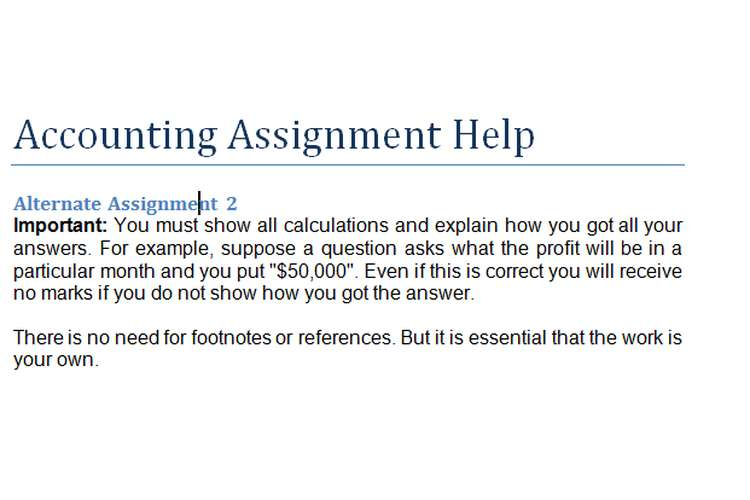 Accounting Assignment Questions