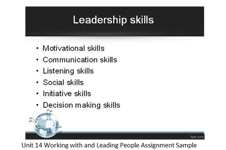 Unit 14 Working with Leading People Assignment Sample