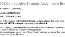 HI6006 Competitive Strategy Assignment Brief