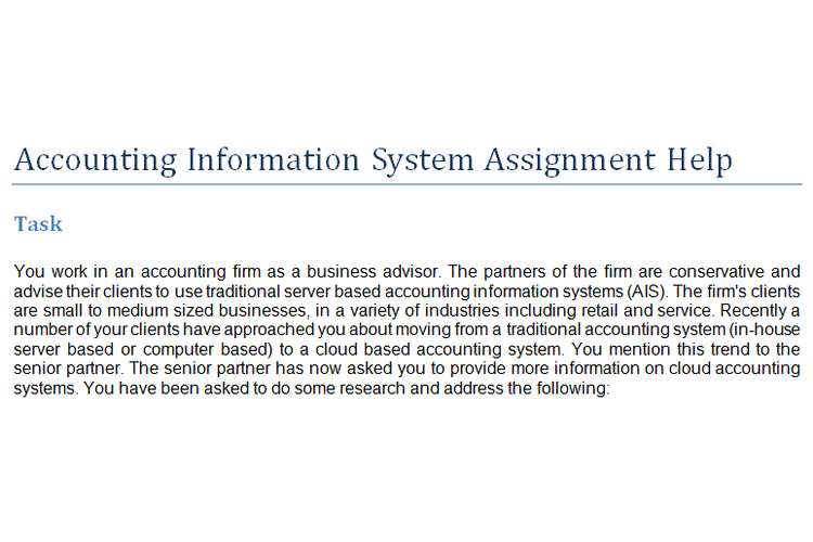 accounting information system assignment help assignment help