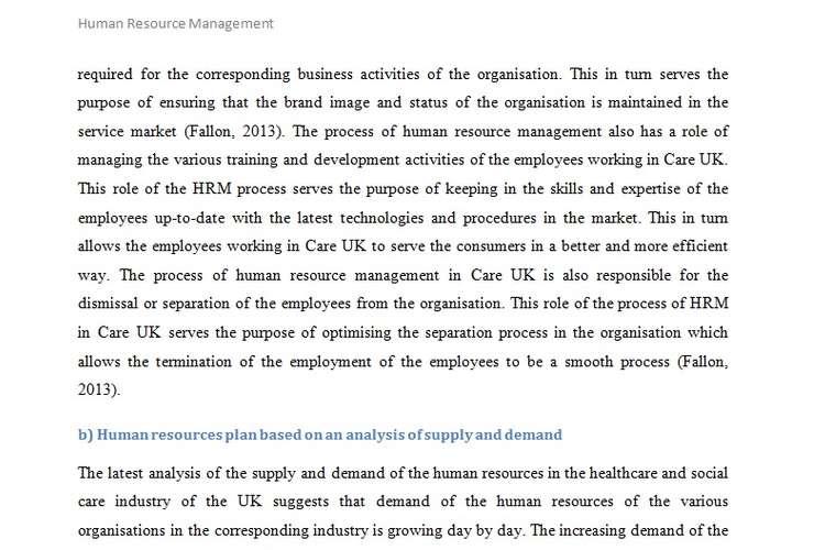 Human Resource Management Sample Assignment