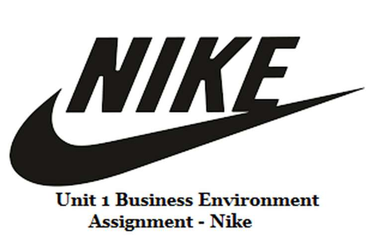 Unit 1 Business Environment Assignment - Nike