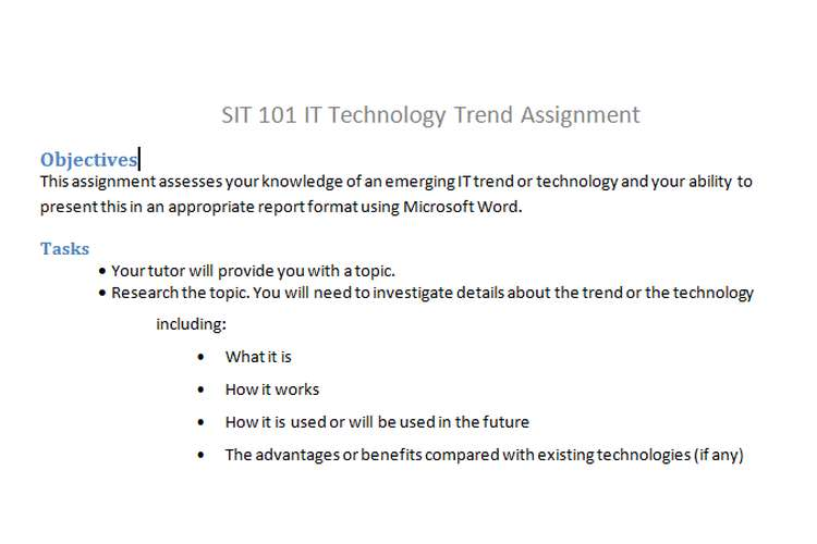 SIT 101 IT Technology Trend Assignment
