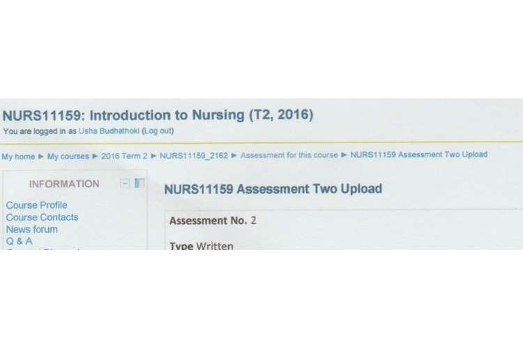 NURS11159 Introduction Nursing Assignment Brief