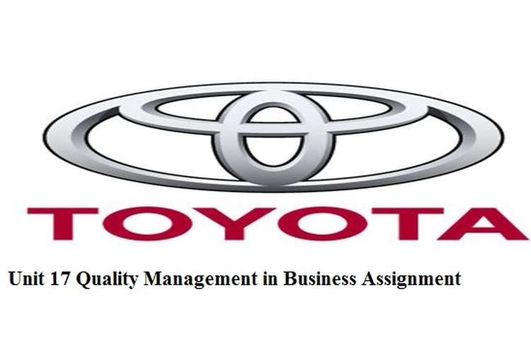 Unit 17 Quality Management in Business Assignment