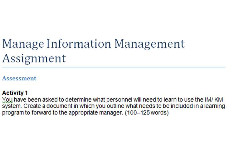 Manage Information Management Assignment