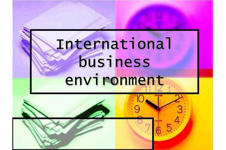International Business Environment Oz Assignments