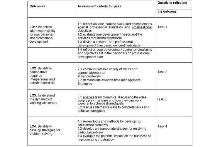 Unit 3 Employability Professional Development Pass Copy