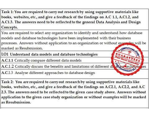 Unit 33 Data Analysis and Design Distinction Copy