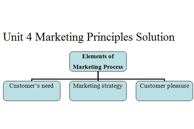 Unit 4 Marketing Principles Solution