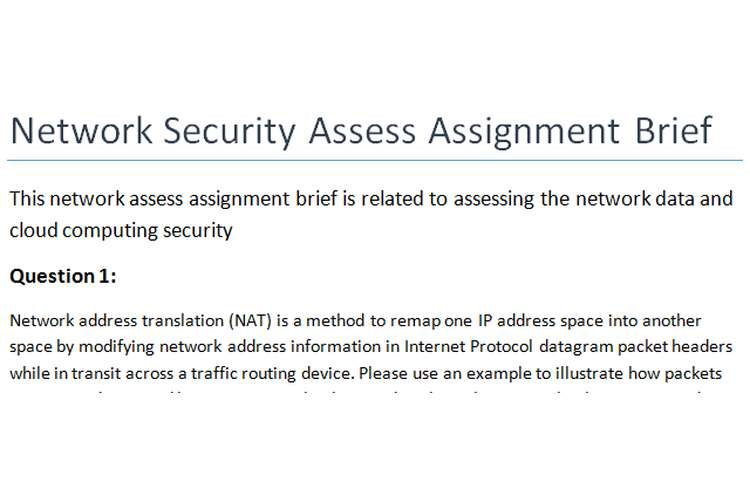 Network Security Assess Assignment Brief