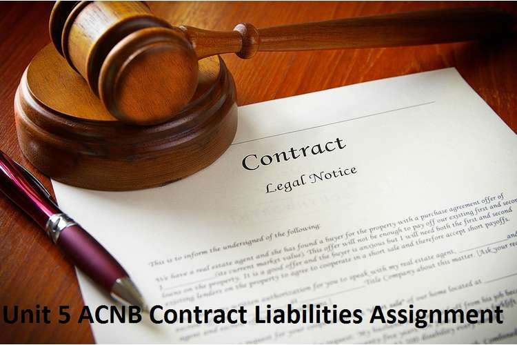 Unit 5 ACNB Contract Liabilities Assignment