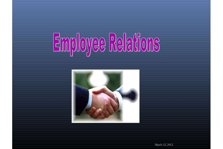 Unit 20 Employee Relation Sample Assignment