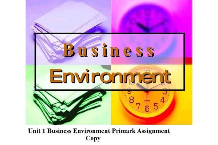 Unit 1 Business Environment Primark Assignment Copy
