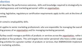 BSBMKG603 Manage the Marketing Process Assignment Brief