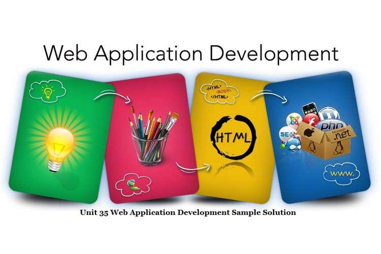 Unit 35 Web Application Development Sample Solution