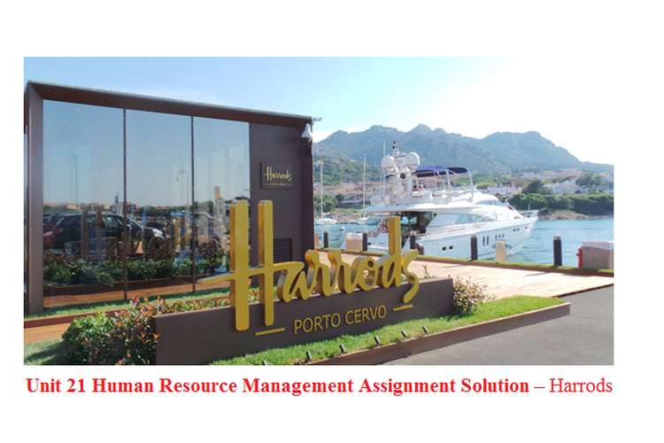 Unit 21 Human Resource Management Assignment Solution – Harrods